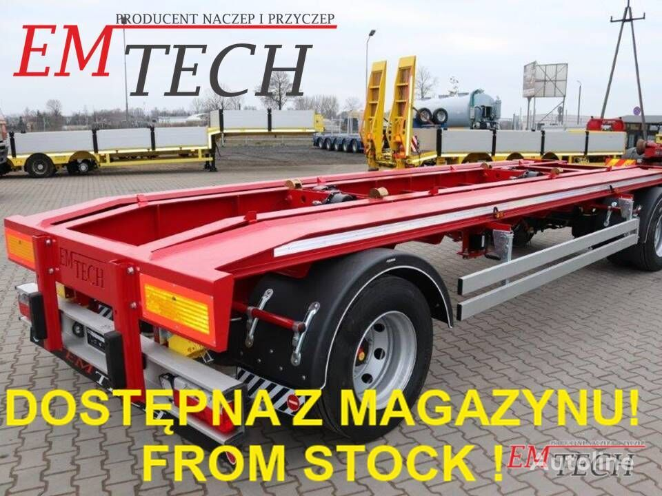 nieuw EMTECH Z MAGAZYNU! STOCK AVAILABLE! 2.PKR-O19,5'' (DIN) container aanhanger