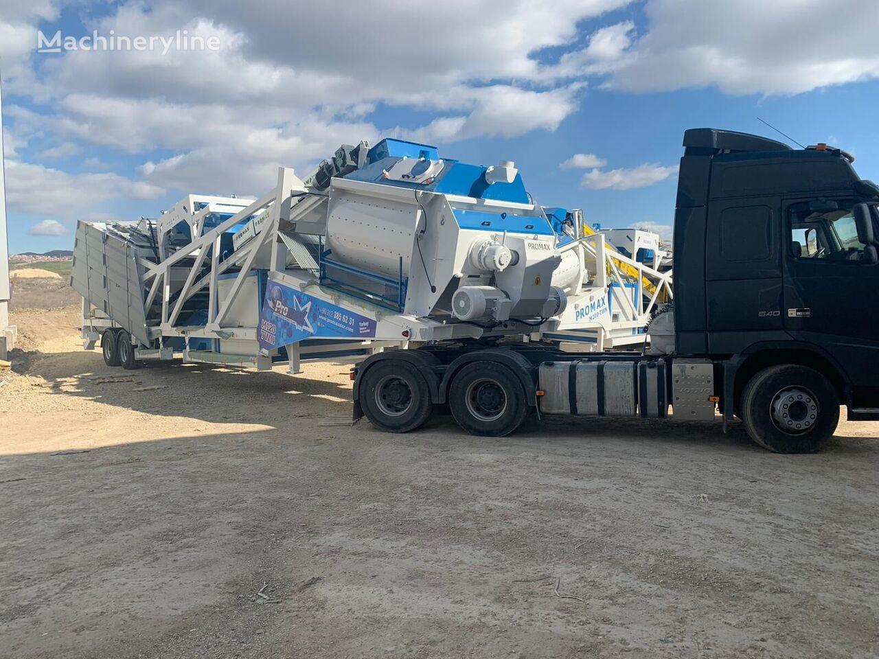 nieuw PROMAX Mobile Concrete Batching Plant M120-TWN (120m3/h) betoncentrale