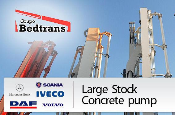 PUTZMEISTER THE BEST STOCK THE CONCRETE PUMPS IN SPAIN BEDTRANS betonpomp