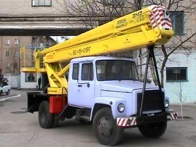 GAZ VS—18 Podemnik VS—18 s 5ti mestnoy kabinoy  hoogwerker