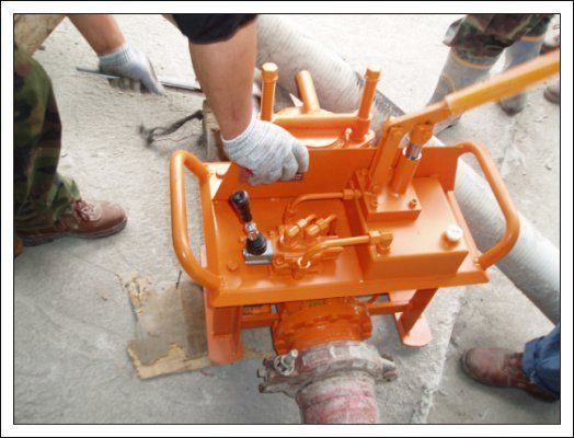 nieuw Gidravlicheskie zadvizhki betonovoda (Yuzhnaya Koreya) kleine betonpomp