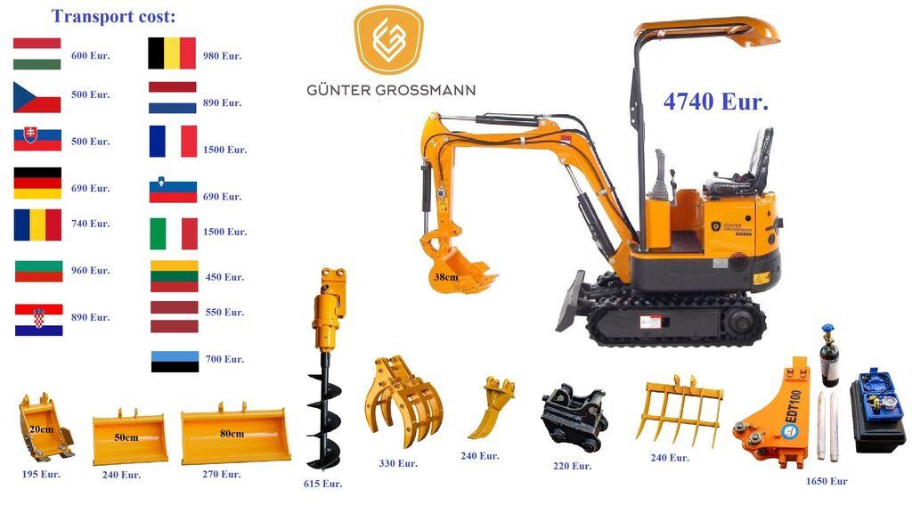 nieuw Günter Grossmann www.gg800.eu GG800 Minikoparka minigraver
