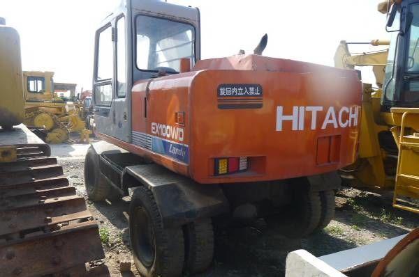 HITACHI EX100WD mobiele graafmachine