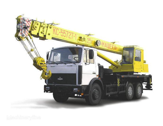 KS 55727-1, 7 op chassis MAZ mobiele kraan