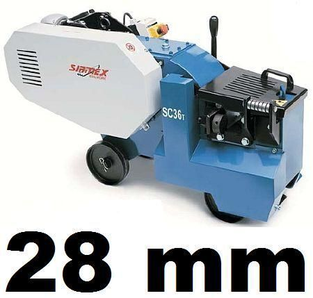 nieuw SIRMEX SC32 T NOŻYCE GILOTYNA PRĘTÓW DRUTU ZBROJENIA 28mm profielenbuigmachine