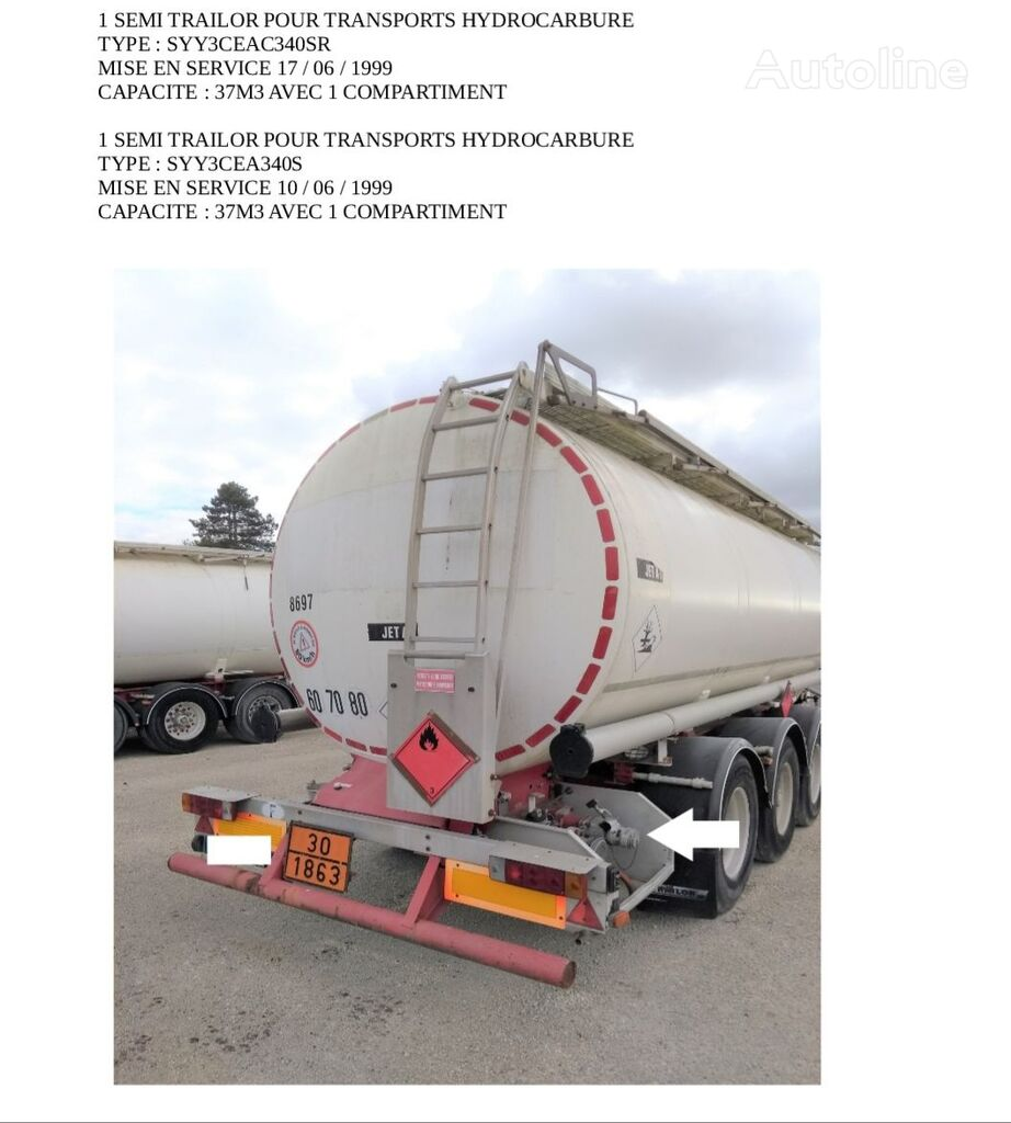TRAILOR brandstoftank oplegger