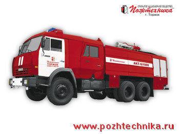 KAMAZ AKT-6/1000-80/20 Avtomobil kombinirovannogo tusheniya   brandweerwagen