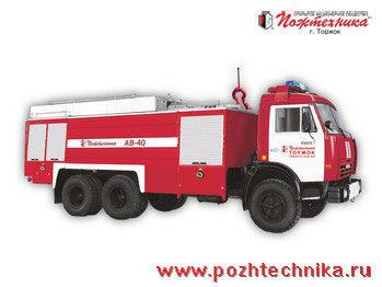 KAMAZ AV-40 Avtomobil vozdushno-pennogo tusheniya brandweerwagen