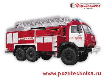 KAMAZ  ACL-4-40/22  ladderwagen
