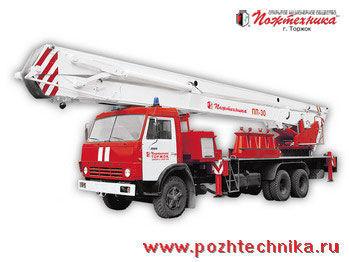 KAMAZ PPP-30 Penopodemnik pozharnyy ladderwagen