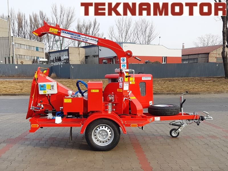nieuw TEKNAMOTOR Skorpion 160SD houtversnipperaar