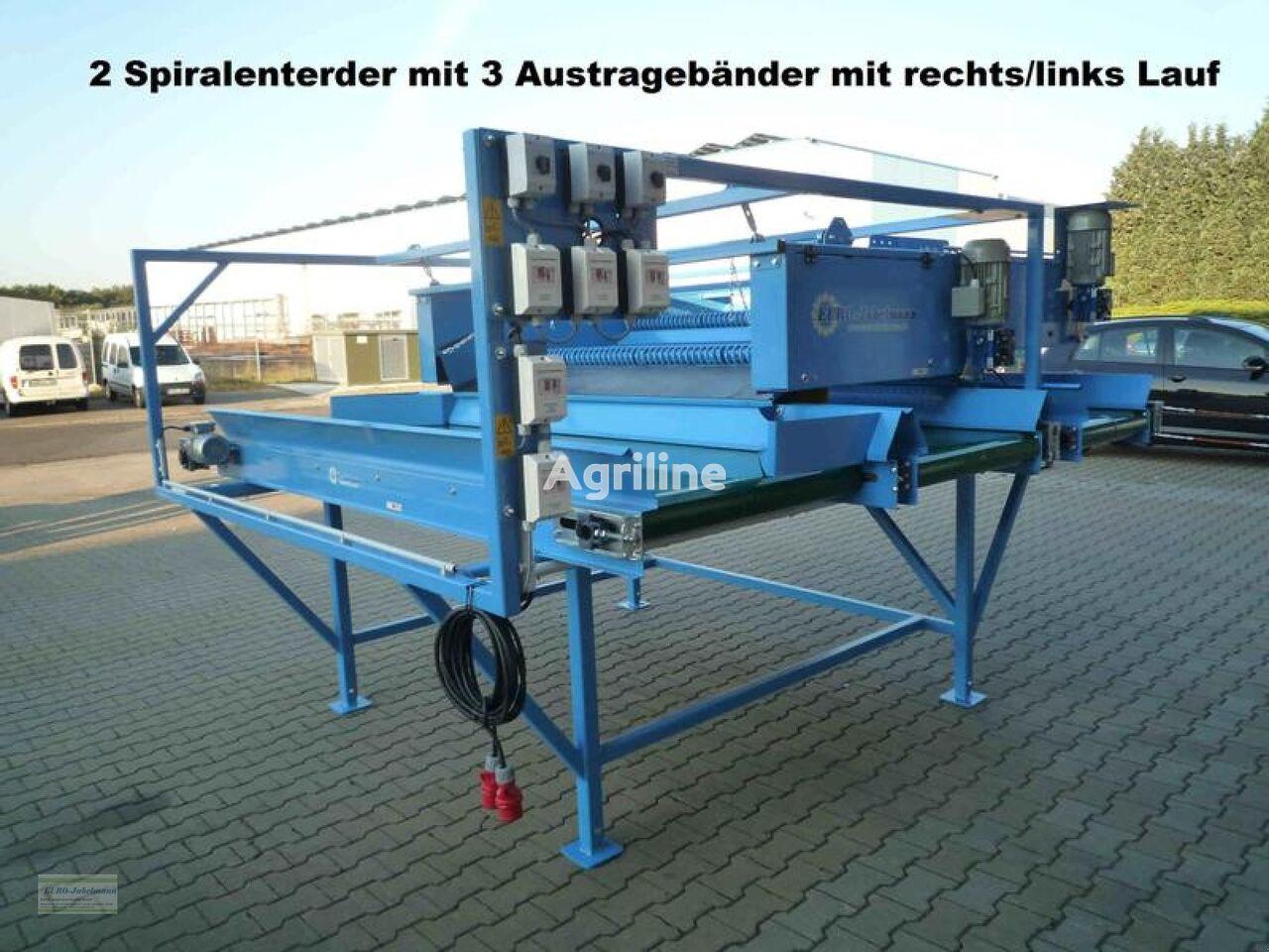 nieuw EURO-Jabelmann Doppelter Spiralwalzenenterder mit Austragebänder, NEU groentewasmachine