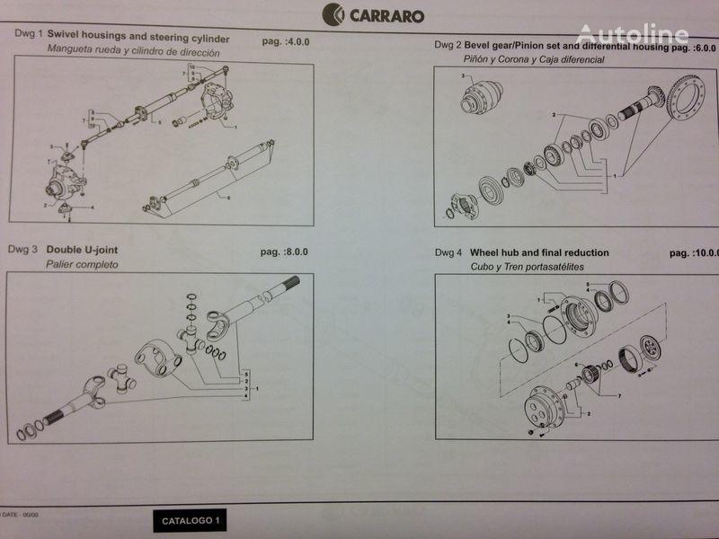 CARRARO aandrijfas voor CATERPILLAR graafmachine