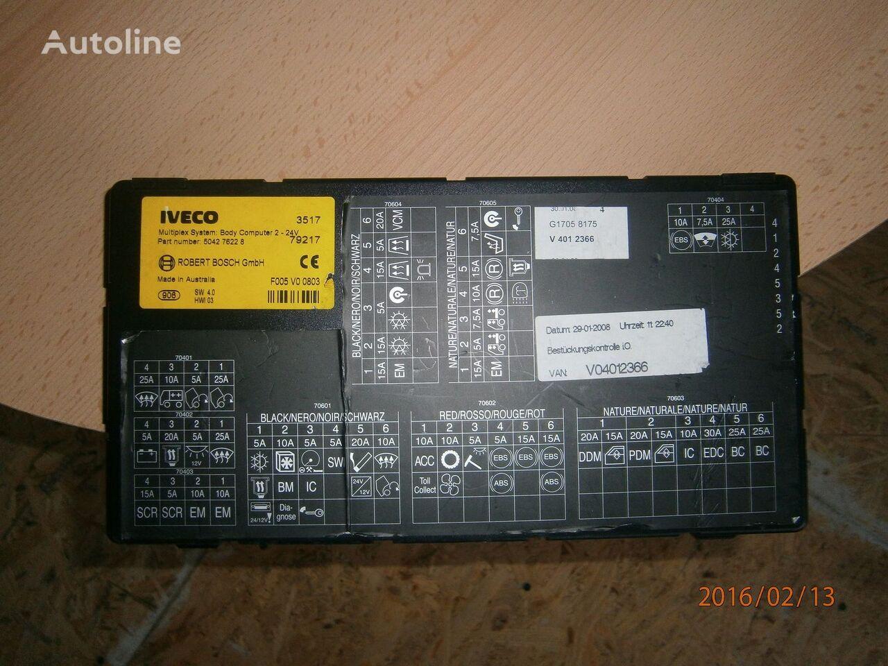 Iveco Stralis EURO5 Multiplex system body computer 504276228 besturingseenheid voor IVECO Stralis trekker