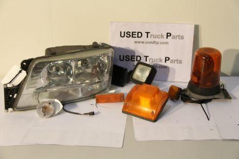 Verlichting en signalisatie koplamp voor MAN trekker