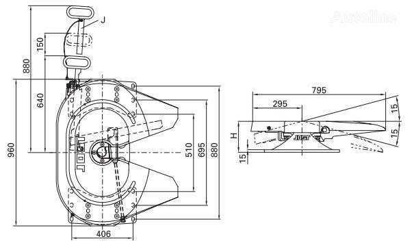 Jost 115 185mm koppelingsschotel voor trekker