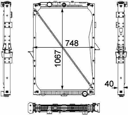 nieuw DAF 1674136. 1692332. 1739550 .1856628. 8MK376 733-7111861737. 18617 motorkoeling radiator voor DAF XF95.105XF vrachtwagen