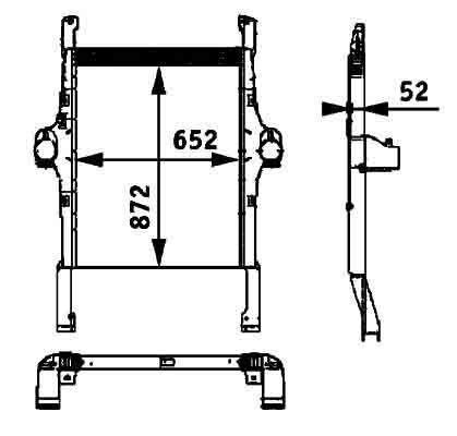 nieuw IVECO 41214448.8ML 376 724-251 BEHR HELLA motorkoeling radiator voor IVECO STRALIS trekker