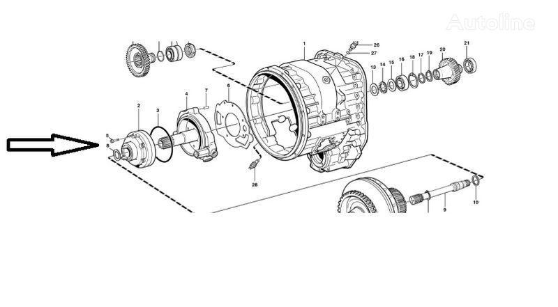 Pompa VOE11145264 VOLVO onderdeel voor VOLVO L180E wiellader