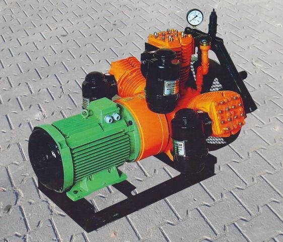 pneumatische compressor voor V3.16 tłokowy z silnikiem elektrycznym tankoplegger