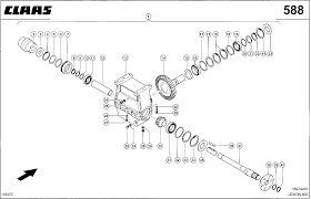 CLAAS rotora verloopstuk voor CLAAS Lexion 760-470  maaidorser