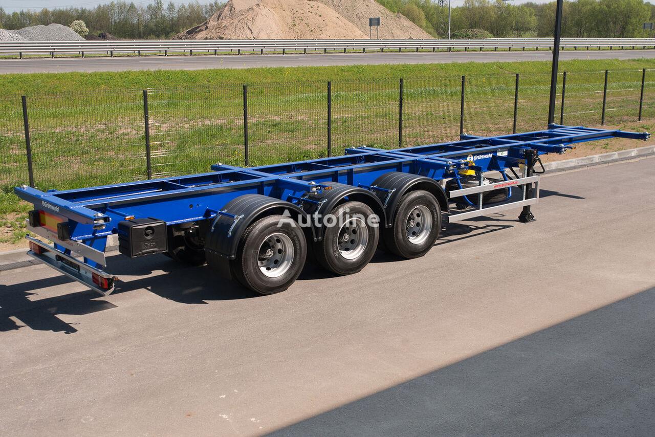 nieuw GRUNWALD Versatile heavy duty container semitrailer containertransporter oplegger