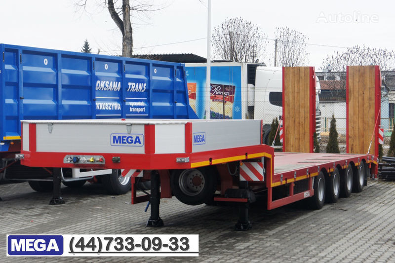 nieuw MEGA 4 AXEL FLATBED / HYDRAULIC RAMPS / UP TO 45 T! dieplader oplegger