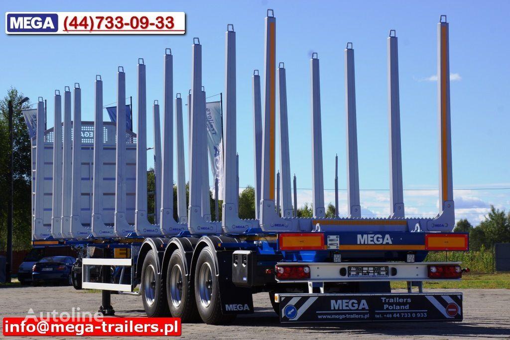 nieuw MEGA 10 U STANCHION - TIMBER SEMI-TRAILER/HOLZAUFLIEGER- READY ! BERE houtoplegger