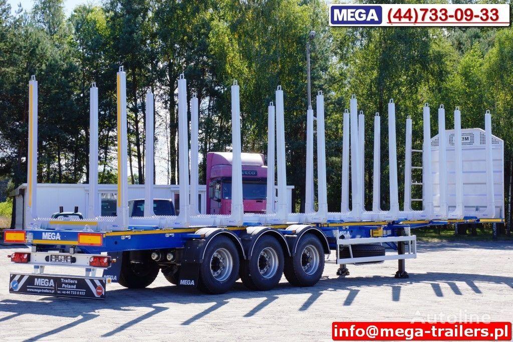 nieuw MEGA 10 U STANCHION - TIMBER SEMI-TRAILER/HOLZAUFLIEGER- READY ! BERE houttransport oplegger