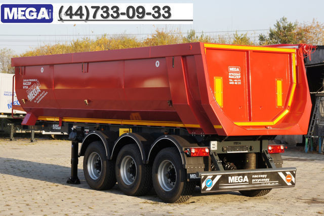 nieuw KARGOMIL 25 - 28 m³ HALF-PIPE / steel tipper - DOMEX 5/7 mm / SUPER STRON kipper oplegger
