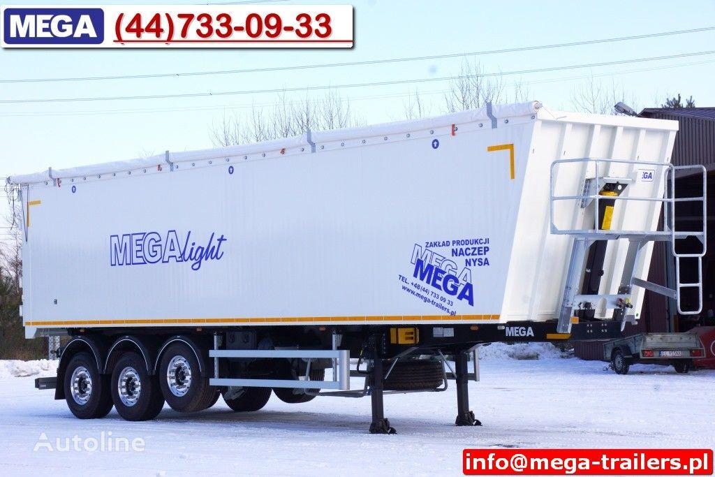 nieuw MEGA 10,4 m / 60 M³ ALUM TIPPER SUPER LIGHT 6,2 T ! READY & NEW ! kipper oplegger