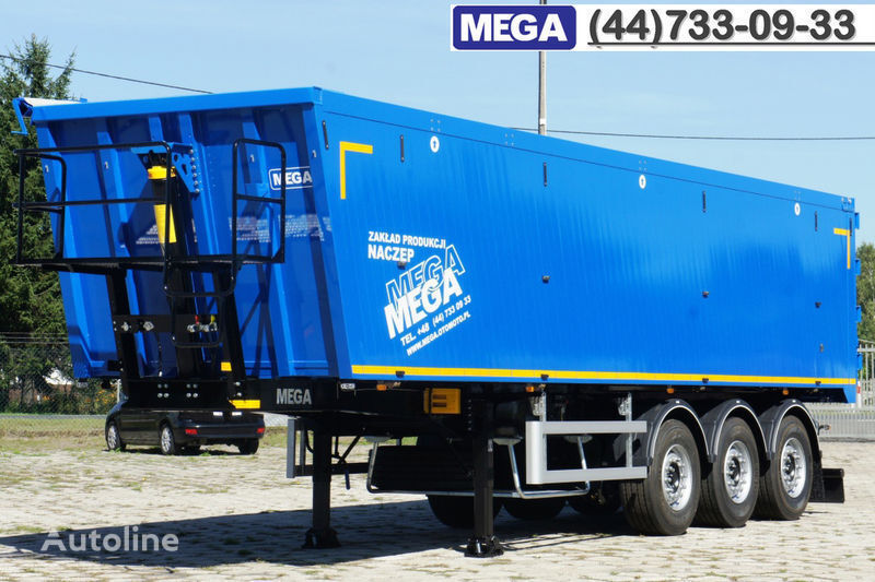 nieuw MEGA 45 m³ - alum. tipper SUPER-LIGHT - 5,300 KG & hatch door - READY kipper oplegger