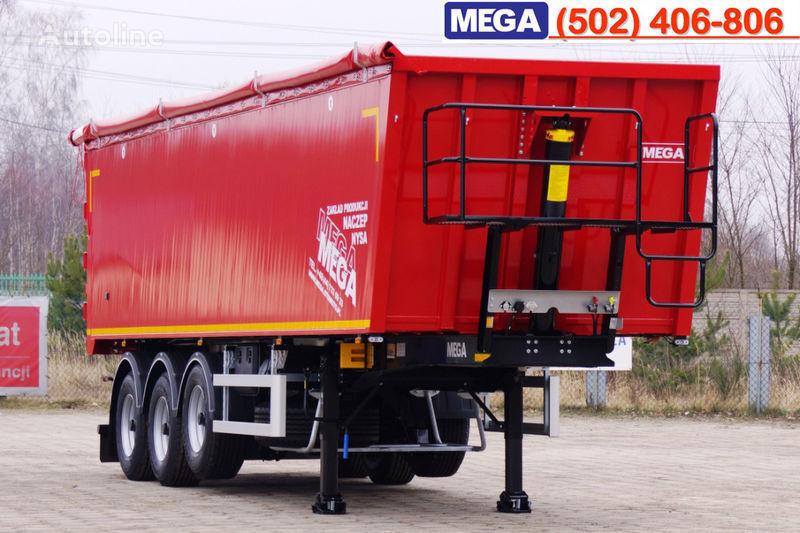 nieuw MEGA 45 m³ - alum. tipper SUPER-LIGHT - 5,300 KG & hatch door - READY kipper oplegger