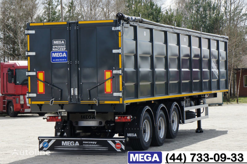 nieuw MEGA 55 M³ DOMEX/OPTIM 650 STEEL TIPPER / HATCH-DOOR & GRAINHOLES !! kipper oplegger