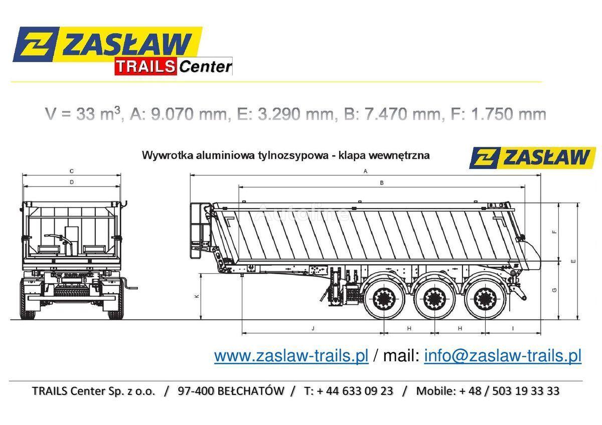 nieuw ZASLAW TRAILIS 33 m³ naczepa wywrotka Super LeKKa od 5.150 kg z placu!  kipper oplegger