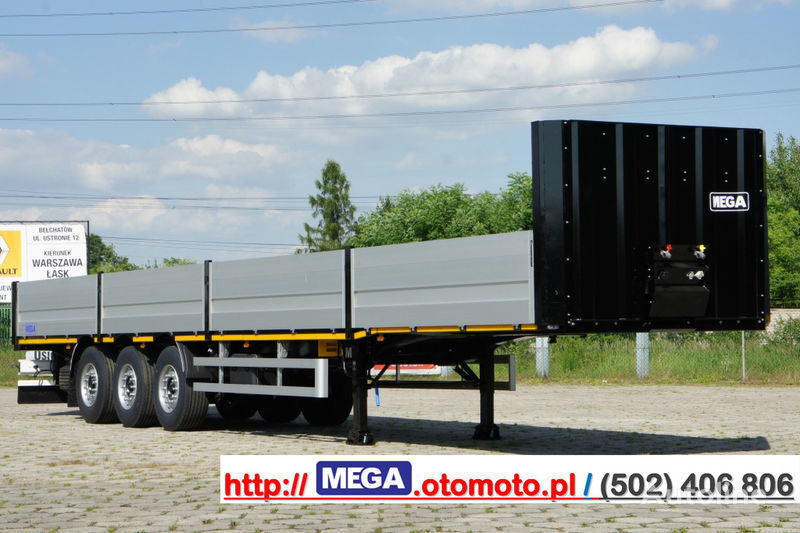 nieuw MEGA MNS 22,5 - PLATFORM & ALUSIDES 800 MM /  STRONG  FRAME DOMEX650 open laadbak oplegger