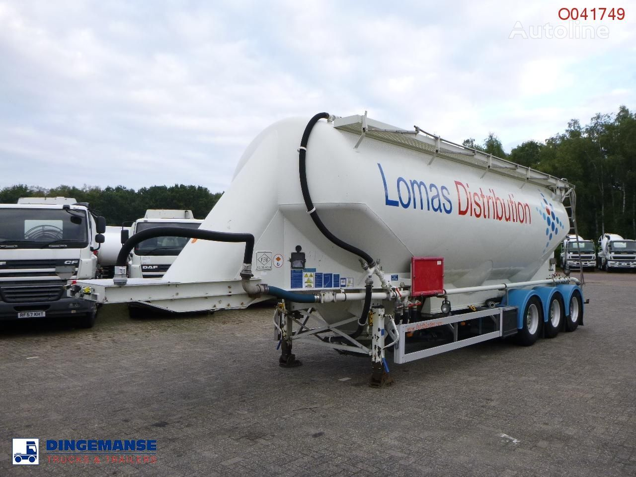 FELDBINDER Powder tank alu 43 m3 / 1 comp silo tankoplegger
