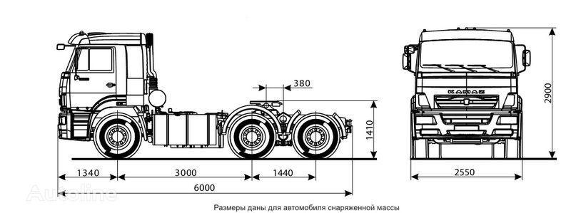 KAMAZ 6460 (6h4) trekker