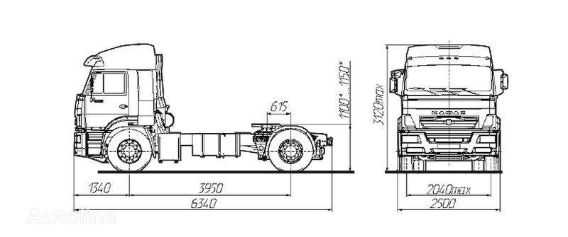 KAMAZ Sedelnyy tyagach KAMAZ-5460 trekker