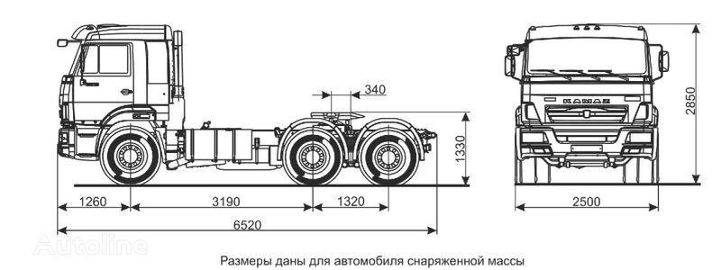 KAMAZ Sedelnyy tyagach KAMAZ-65116 (6h4) trekker