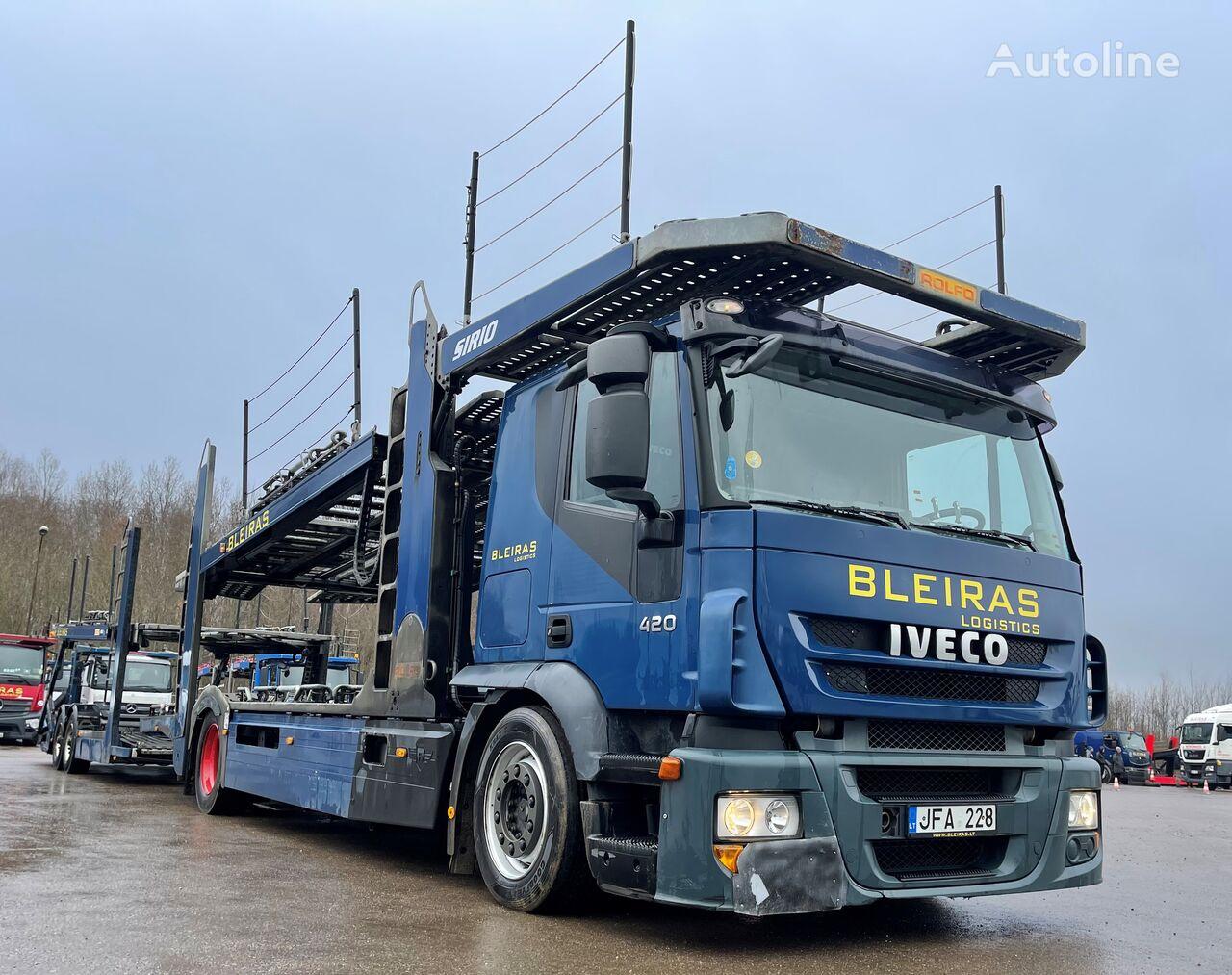 IVECO 190-42  autotransporter + autotransporter aanhanger