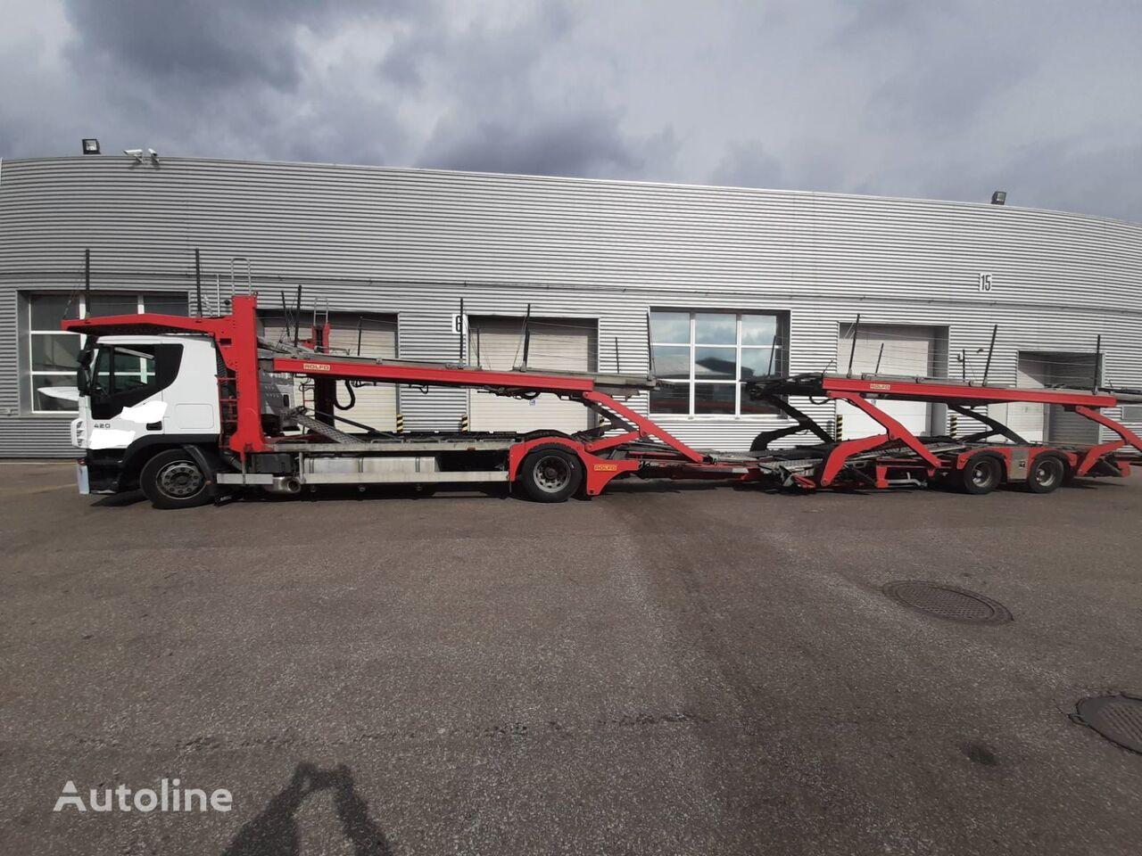 IVECO Stralis  autotransporter + autotransporter aanhanger