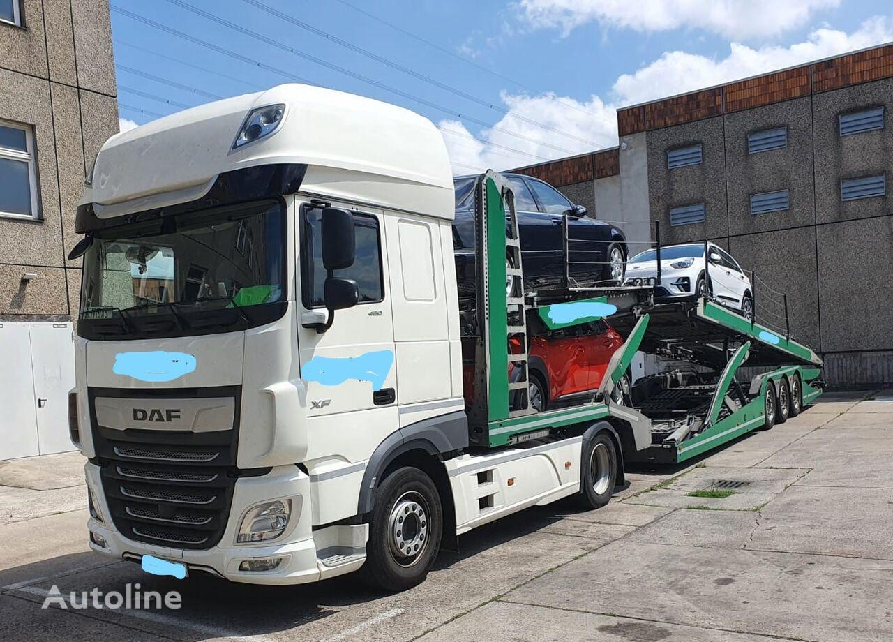 LOHR Eurolohr 3.53W xs-B2 autotransporter + autotransporter aanhanger