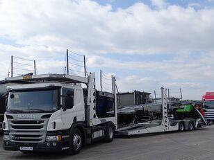 SCANIA P 410 / AUTOTRANSPORTER / ROLFO EGO 4 + ROLFO DYNAMIC 7/ RETARDE autotransporter + autotransporter aanhanger