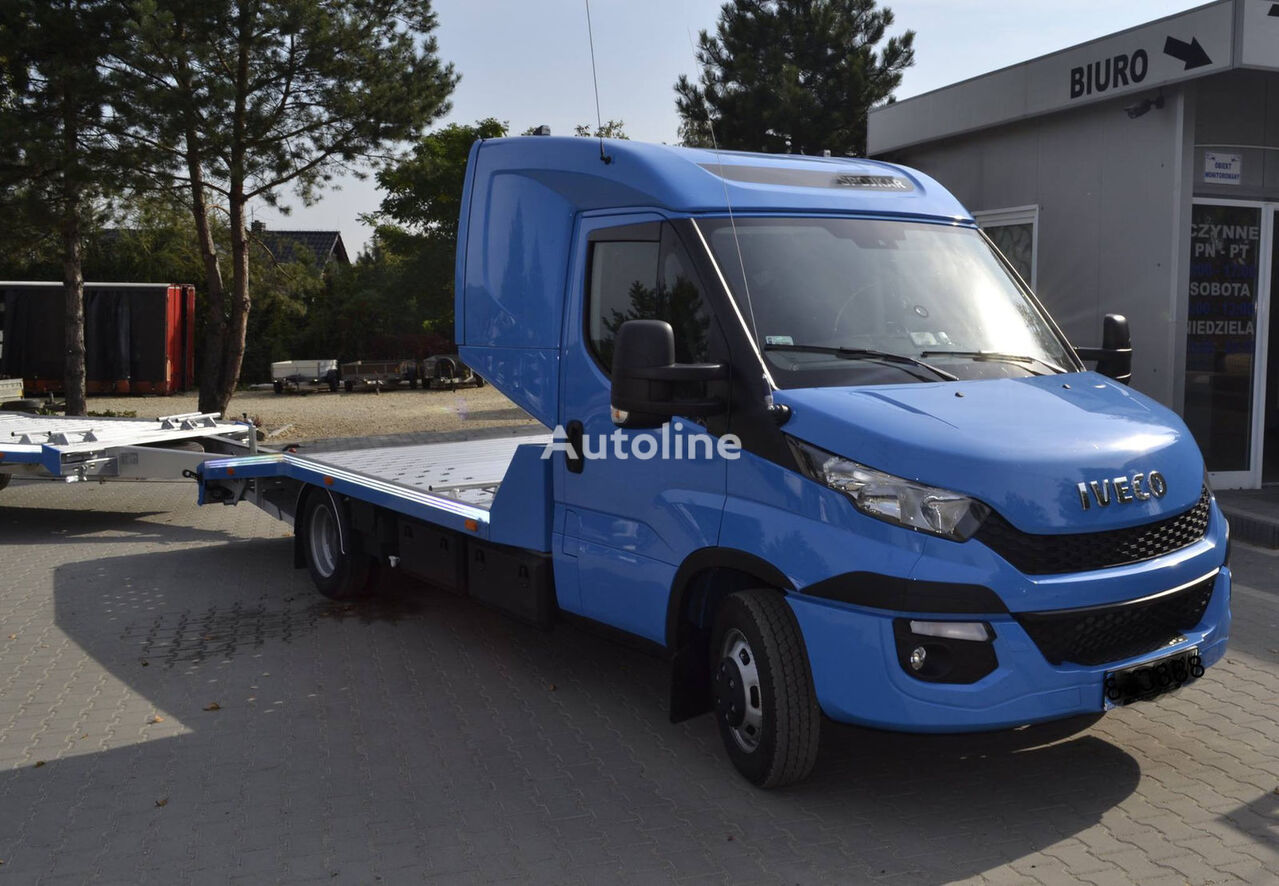 iveco daily 50c18 autotransporter 1 3 auto schlafkabi euro6 luftf autotransporters te koop. Black Bedroom Furniture Sets. Home Design Ideas