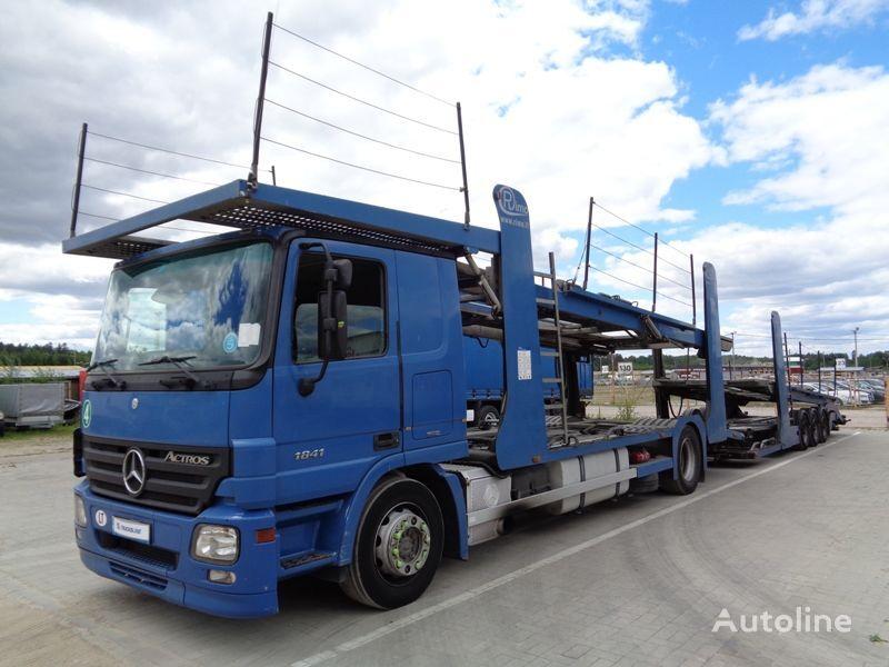 MERCEDES-BENZ ACTROS 1841 autotransporter + autotransporter aanhanger