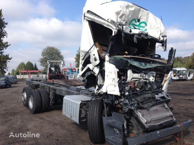Beschadigde MERCEDES-BENZ Actros 2642  chassis vrachtwagen voor onderdelen