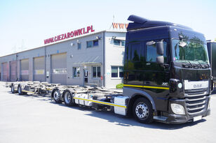 DAF XF 460 SC , E6 , 6X2 , BDF + Wecon 2 axles trailer , BDF SET  containertransporter + chassis aanhanger