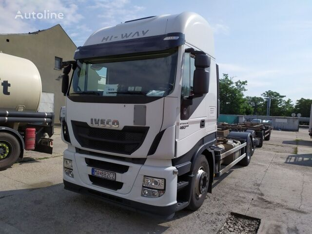 IVECO AS260SY/FP CM containertransporter + container aanhanger