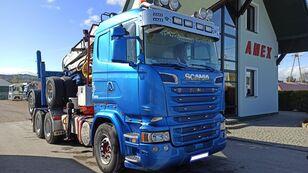 SCANIA R 500 houtvrachtwagen + hout aanhanger